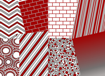 Crimson & White Digital Papers (University of Alabama Team Colors)