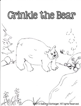 Crinkle the Bear Color Page