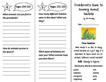Crinkleroot's Guide Animal Habitats Trifold - Imagine It 3rd Grade Unit 2 Week 5