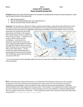 Crisis at Ft. Sumter - What Would Lincoln Do?