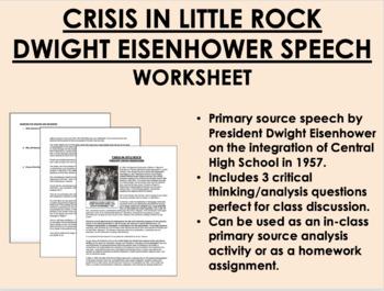 """Crisis in Little Rock"" - Dwight Eisenhower - USH/APUSH"