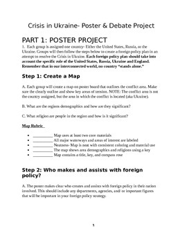 Crisis in Ukraine- A Foreign Policy Project Based Learning (PBL) Assignment