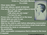 Crisis is a Teachable Moment