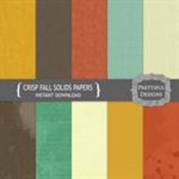 Crisp Fall Solid Paper Pack