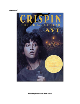 Crispin Cross of Lead Adapted for Students with Disabilities