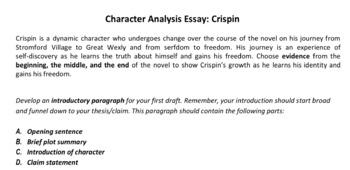 Crispin Essay