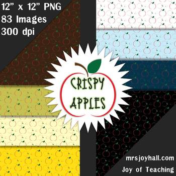 Crispy Apples Digital Paper