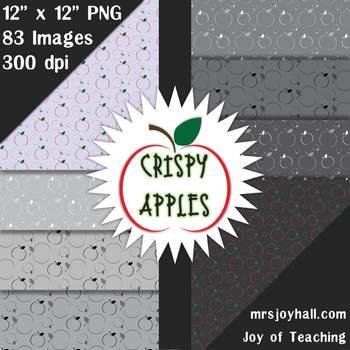 Crispy Apples Digital Paper