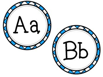 Criss-Cross ABC Labels for Word Walls & Classrooms