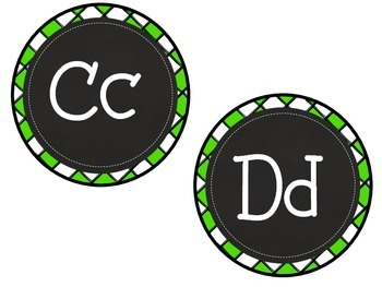 Criss-Cross Chalkboard ABC Labels for Word Walls & Classrooms