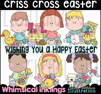 Criss Cross Easter Clipart Collection NO LICENSE REQUIRED