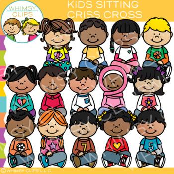 Kids Sitting Criss Cross Clip Art