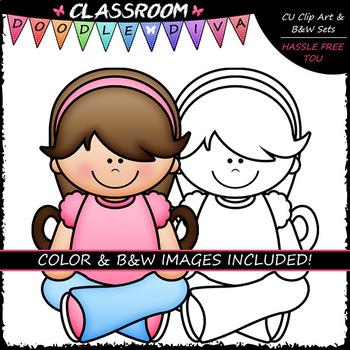 Criss-Cross Kids - Clip Art & B&W Set