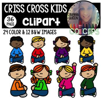 Criss Cross Kids Clipart