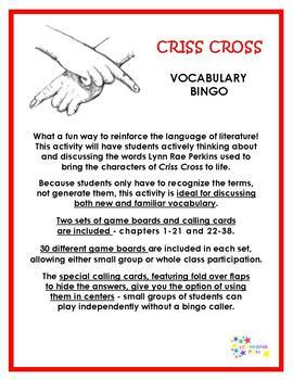 Criss Cross Vocabulary Bingo