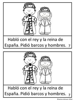 Cristóbal Colón Spanish Reader & timeline for Columbus Day {en español}