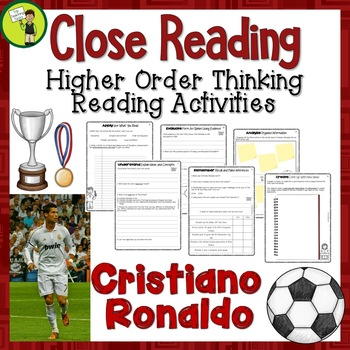 2018 Football World Cup Cristiano Ronaldo Reading Passages and Questions