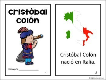 Cristóbal Colón ~ Christopher Columbus Reader, Timeline & Reading pgs~ Bilingual