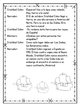 Cristóbal Colón obra de teatro, poema, / Christopher Columbus Readers theatre