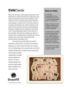 CritCards: Art criticism cards to start the conversation a