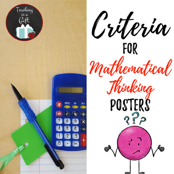Criteria for Mathematical Thinking Posters
