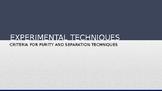 IGCSE Chemistry- Experimental Techniques