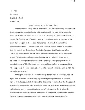 Critical Article Reponse EXAMPLE PAPER