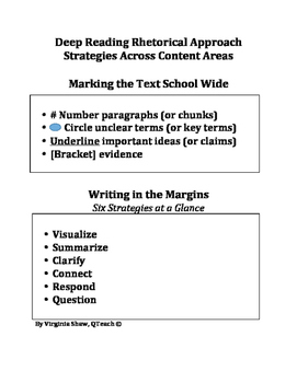 Critical Close Reading Poster Guided Sheet Marks Highly Re