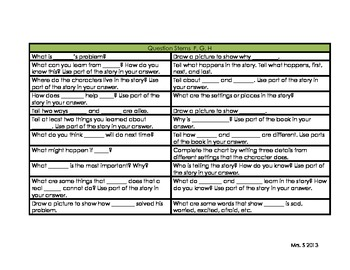 Critical, Creative, Text-based Comprehension Question Stems