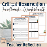 Reflection Workbook for Working Through Observation Feedback