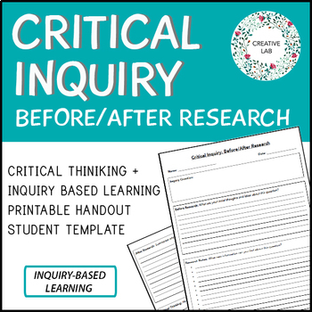 Inquiry Based Learning - Critical Inquiry (Template)