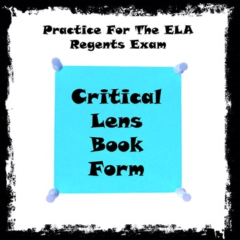 Critical Lens Book Form; Question 28 on the ELA Comprehensive Regents Exam