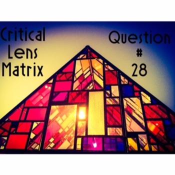 Critical Lens Essay Matrix; Essay Question 28 on the ELA Regents