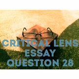 Critical Lens Essay Template; Question 28 on the Regents