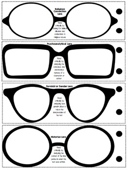 Critical Lenses to use with ANY Fictional Text!