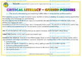 Critical Literacy – Guided posters
