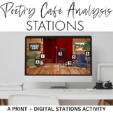 Poetry Cafe Analysis Stations: Print + Digital Literary Le