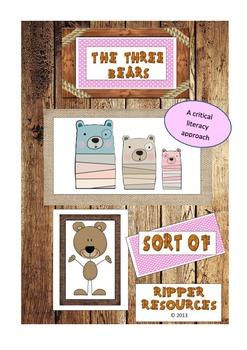 """The Three Bears (Sort Of)"" - Critical literacy"