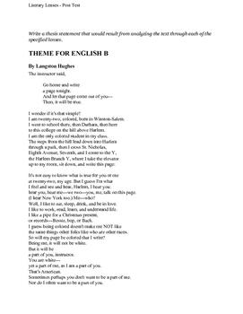 Critical Literary Lenses Post Test (SLO)