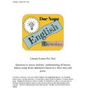 Critical Literary Lenses Pre-Test (SLO)