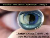 Critical Literary Theory Unit - Use With Any Novel