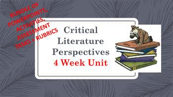 Critical Literature Perspectives BUNDLE 4 week unit