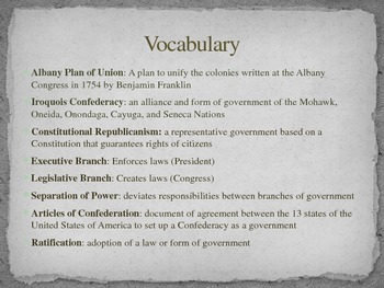 Critical Period Leading to the Articles of Confederation PowerPoint