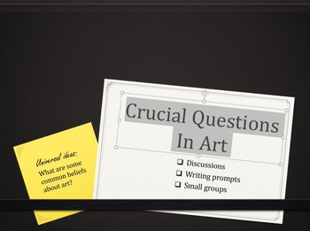 Critical Questions and Big Ideas in Art
