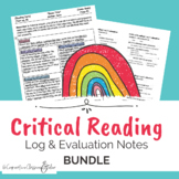Back to School! Critical Reading Log 6X9 Label & Evaluation STICKIES (*AP)