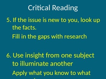Critical Reading PowerPoint