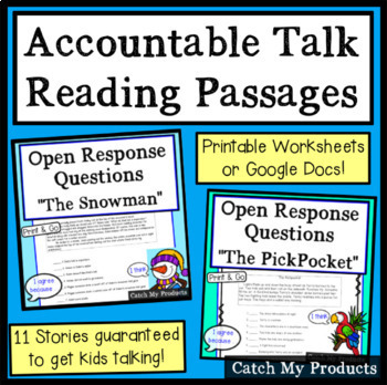 Reading Comprehension Passages to Enhance Accountable Talk