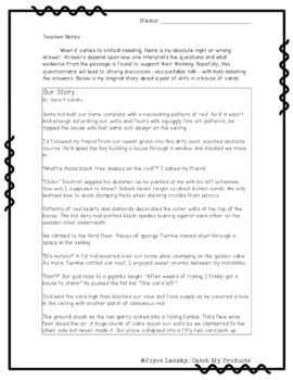 Reading Comprehension Passage to Enhance Accountable Talk (Our Story)