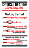 Critical Reading Strategies Poster
