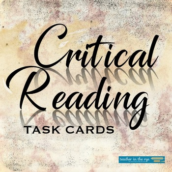 Critical Reading Task Cards for Use With Any Nonfiction Text!